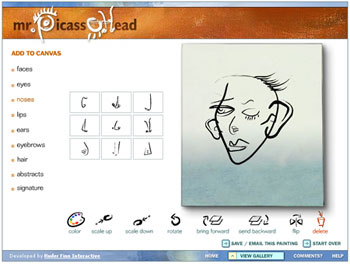Mr. Picassohead Flash interface