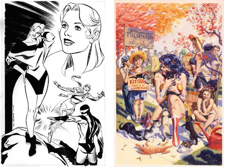 Steve Rude drawing