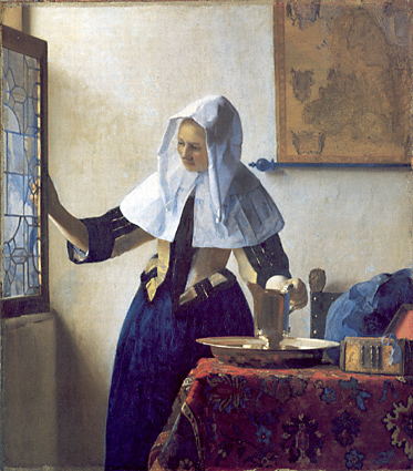 Vermeer: Young Woman with a Water Pitcher - Metropolitan Museum of Art, NY
