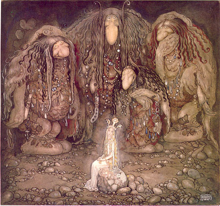 Image result for watercolor illustration by John Bauer