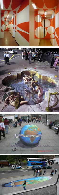 sidewalk optical illusions. Optical Illusions Sites
