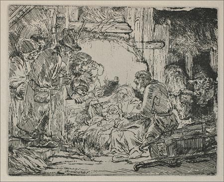 The Nativity - Rembrandt