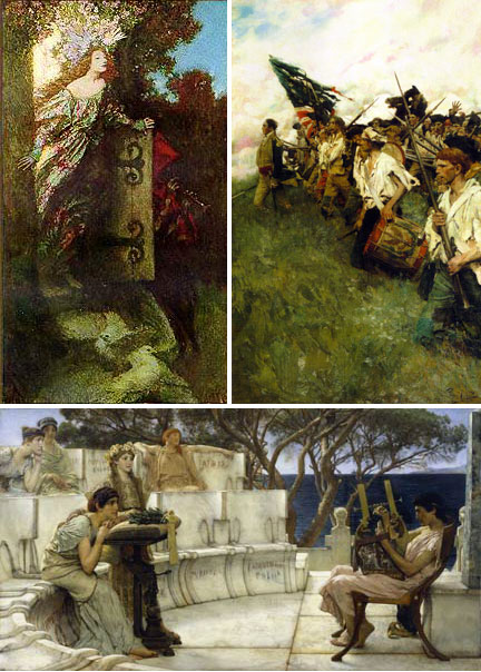 Howard Pyle and Lawrence Alma-Tadema