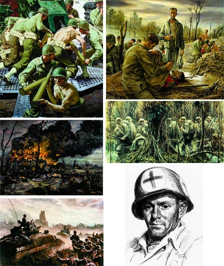 They Drew Fire: Combat artists of World War II