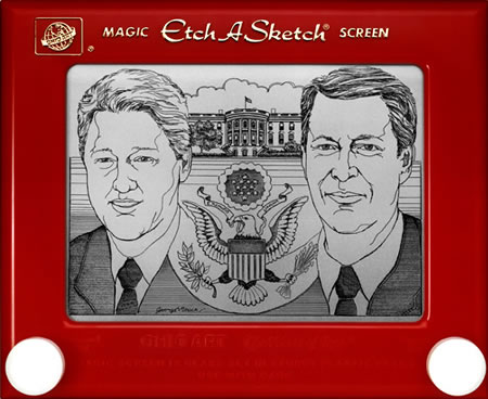 Etch-A-Sketch drawing by George Vlosich