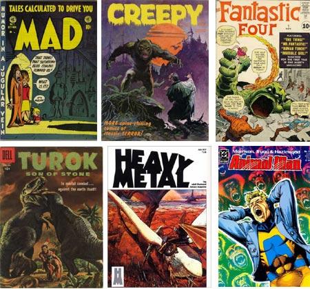 Cover Browser - Mad, Creepy, Fantastic Four, Turok, Son of Stone, Heavy Metal, Animal Man