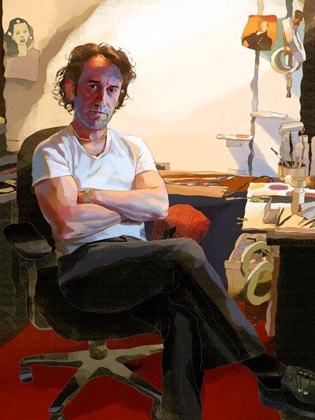 Zina Saunders - portrait of Tim O´Brien