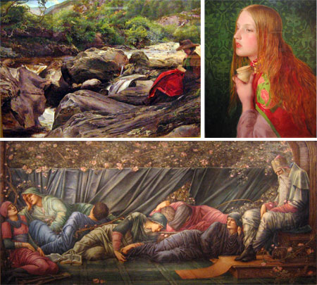 The Pre-Raphaelites - Sir John Everett Millais, frederick Sandys, Edward Byrne-Jones