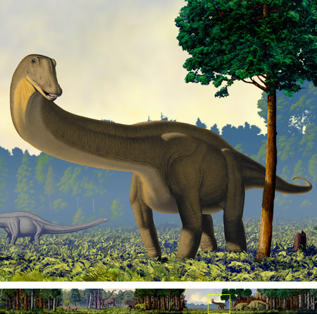 Robert F. Walters - World's largest dinosaur mural, Carnegie Museum of Natural History