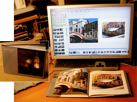 Blurb book - Venice Light in Booksmart software  and final