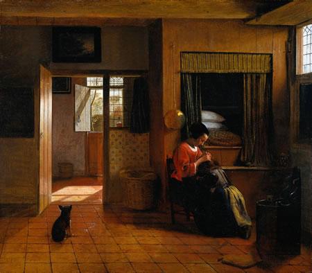 "Pieter de Hooch (pronounced de HOOGH, with a hard ""g"") is a fascinating"