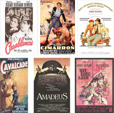 Academy Award Best Picture Winners in Posters