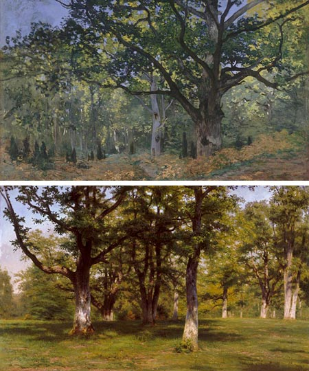 In the Forest of Fontainebleau - Claude Monet, Rosa Bonheur