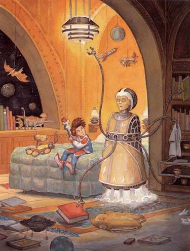 Timothy Bush - illustration for Benjamin McFadden and the Robot Babysitter