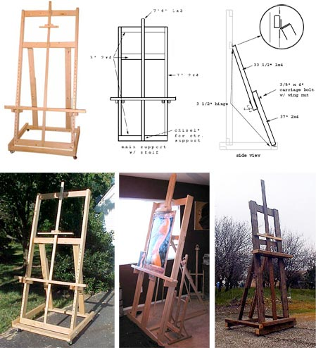 how to make an art easel