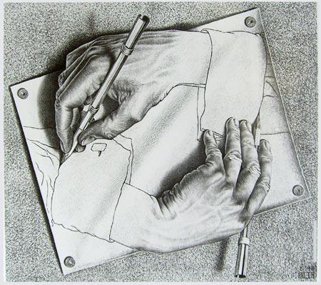 Drawing Hands, M.C. Escher