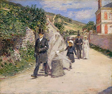 The Wedding March, by Theodore Robinson - from Impressionist Giverny: American Painters in France, 1885-1915