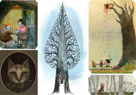 Into the Woods at Gallery Nucleus, Catia Chien, Chris Appelhans, Kazu Kibuishi, Robert Kondo, Yoko Tanaka