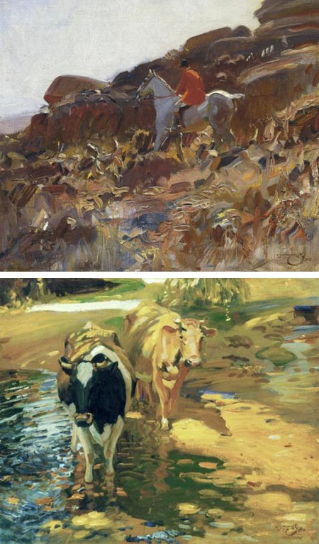 Alfred J. Munnings - horses and cows