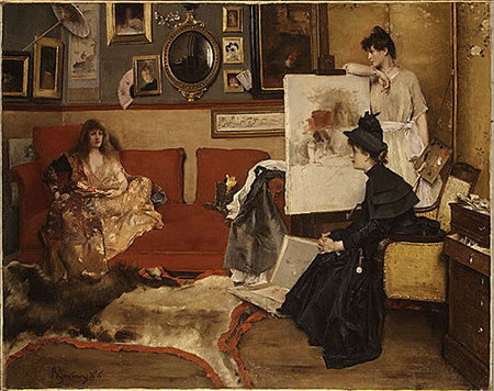 Creativity in Action- In the Studio by Alfred Stevens
