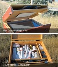 Homemade Pochade Box for Plein Air Oil or Acrylic Painting
