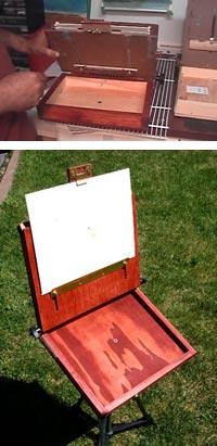 Building a pochade box, Fawzan Barrage