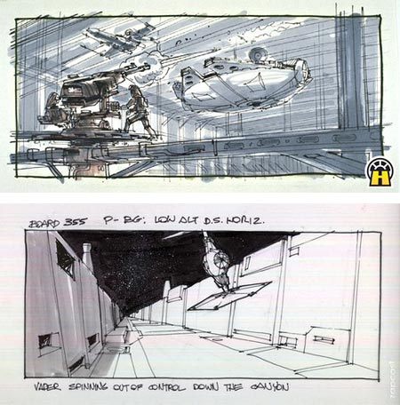 Early Star Wars Storyboards
