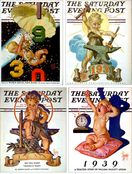 J. C. Leyendecker New Years babies from Saturday Evening Post