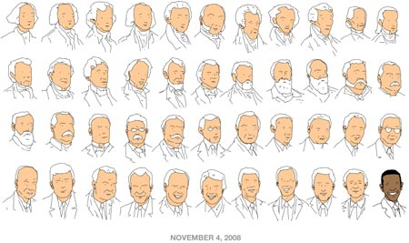 November 4, 2008, U.S. presidents by Patrick Moberg