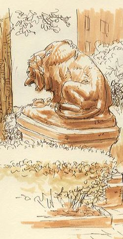 Rittenhouse Square lion - Charley Parker
