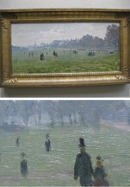 On taking photographs in art museums, Monet, Green park, London