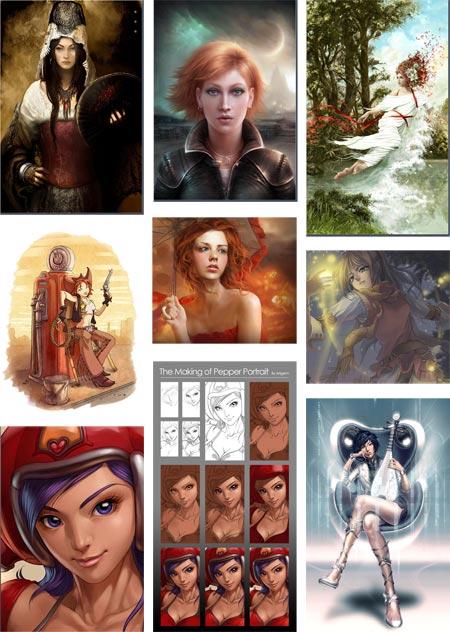 Digital Character Painting Tutorials
