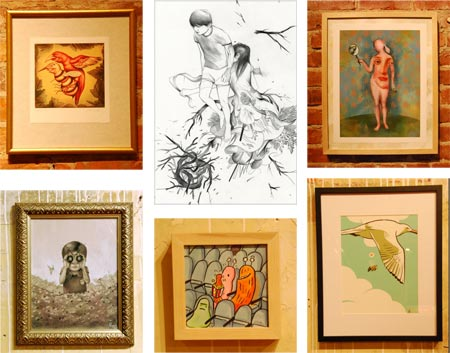 Birds and Bees - Sheridan Illustration Council, Anita Kunz, Tessar Lo, Clemente Botelho, Peter Chan, Claton Hanmer, Benjamin Rivers