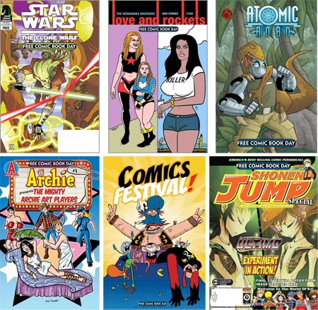 Comic book shops across the U.S. will offer a number of free comics, ...