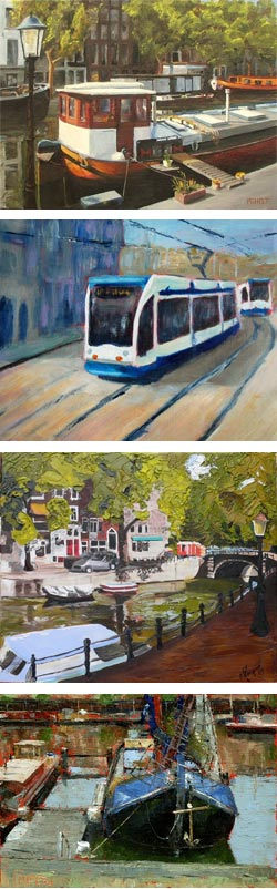 The Virtual Paintout: Amsterdam, Phil Holt, Sharon Williamson, Carol Morgan, Bill Guffey