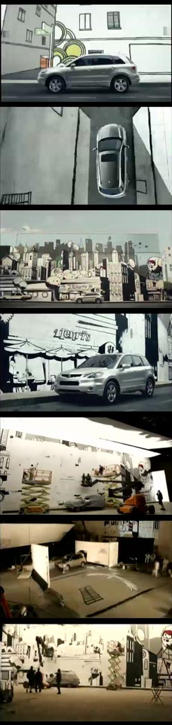 Wall Art Acura TV Spot, David Whittle and  Sainty (Henry St. Leger), directed by Ben Foley and Chris Hopewell