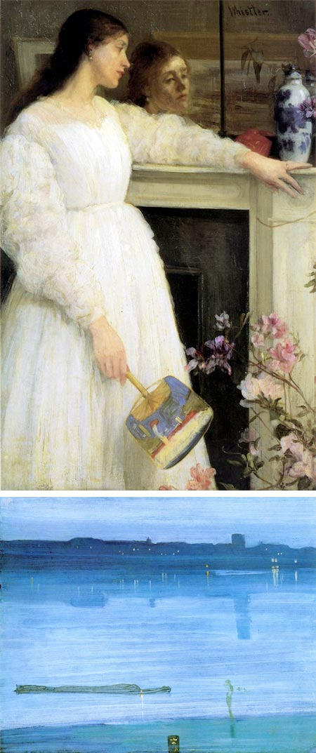 James Abbott McNeill Whistler - Symphony in White, No 2: The Little White Girl, Nocturne: Blue and Silver - Chelsea