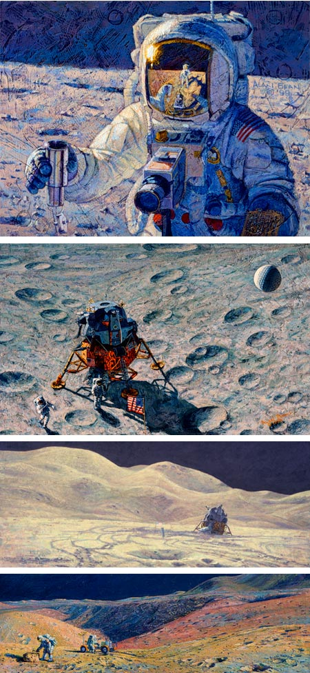 Alan Bean Apollo moon landing paintings