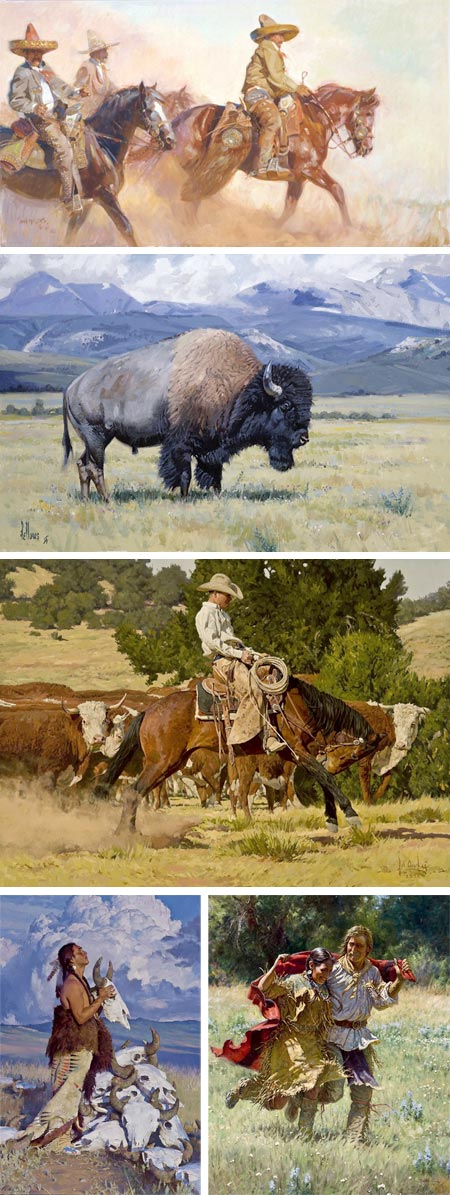 Cowboy Artists of America: John Moyers, Fred Fellows, Bill Owen, R.S. Riddick, Martin Grelle