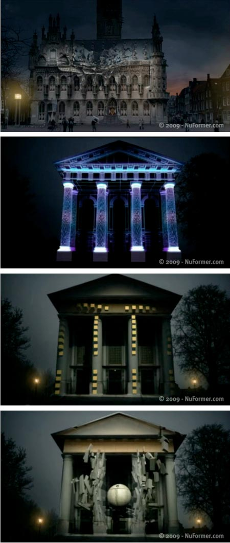 NuFormer 3-D Building Projections