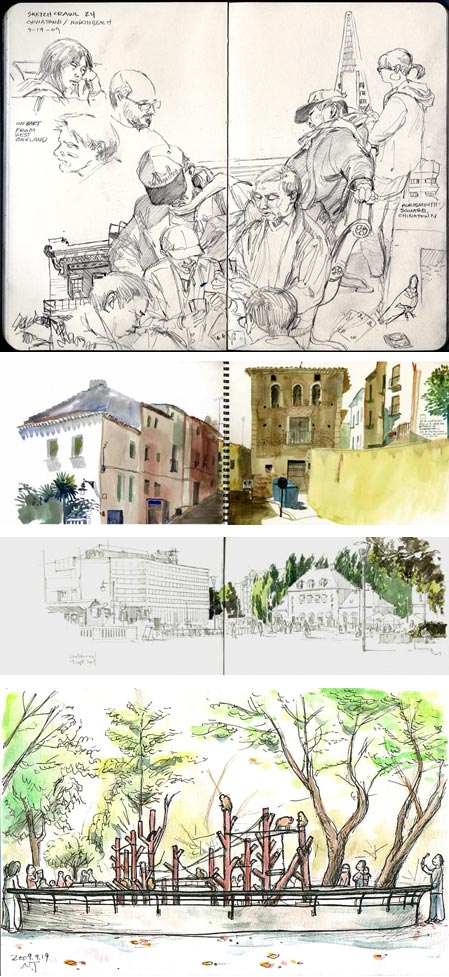 24th World Wide SketchCrawl: Gary Amaro, 4ojos, Guillaume Bonamy, Natsumi Tsuchida