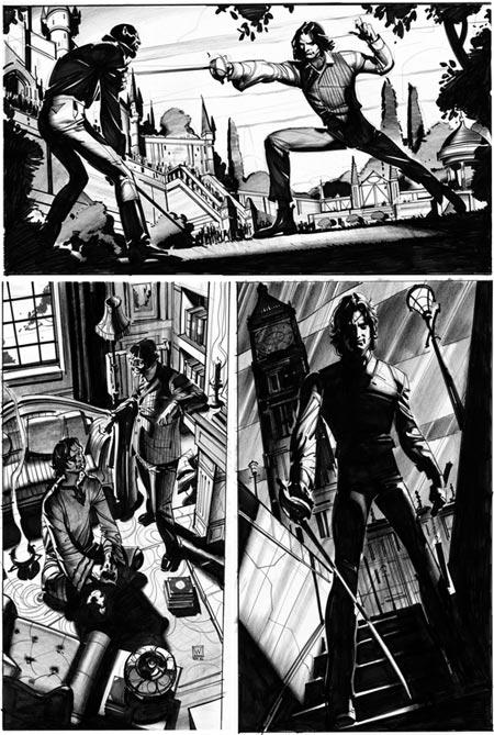 John Watkiss concept art for Sherlock Holmes