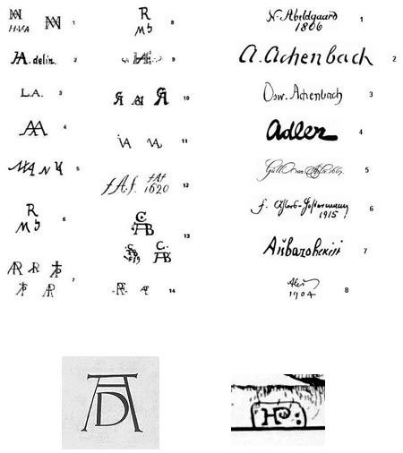 Artist Monograms and Signatures