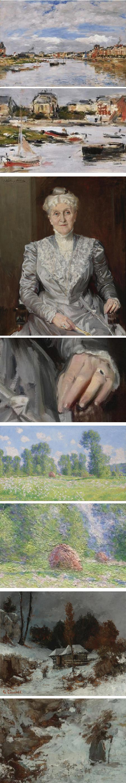 Eugéne Boudin, Joaquin Sorolla Y Bastida, Claude Monet, Gustav Courbet
