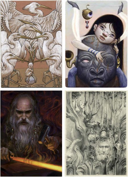 MicroVisions 5 auction: Michael Kaluta, Bill Carman, Donato Giancola, Allen Williams