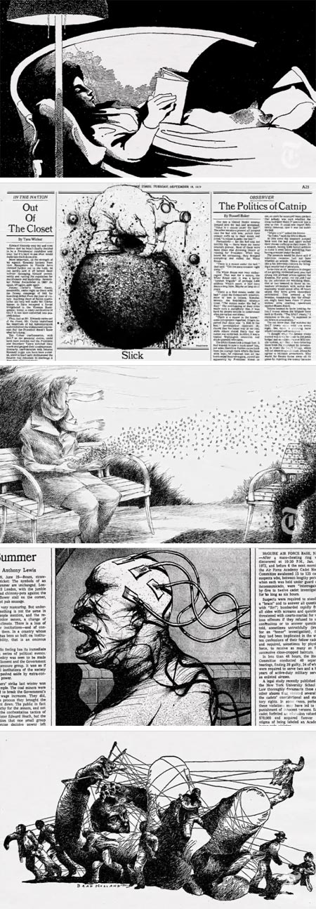 OP-ED at 40: Four Decades of Illustration, New York Times