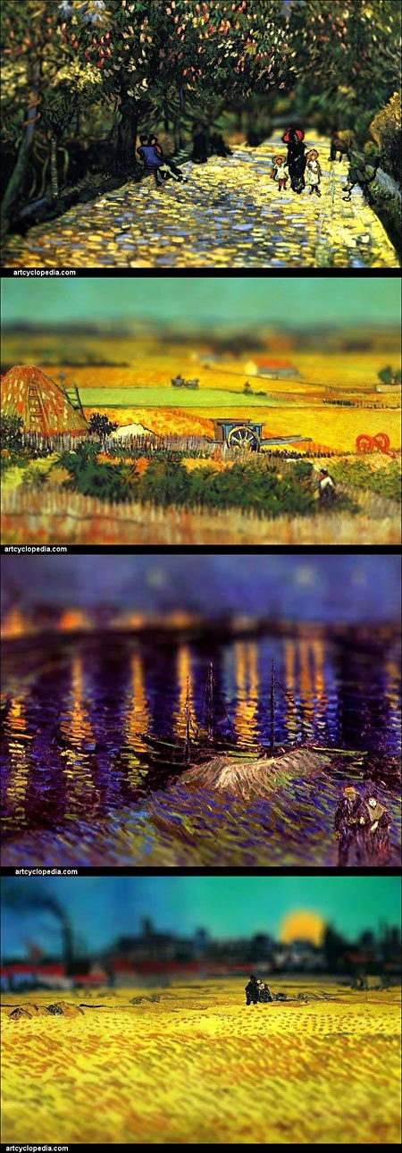 Tilt-Shift Van Gogh from ArtCyclopedia