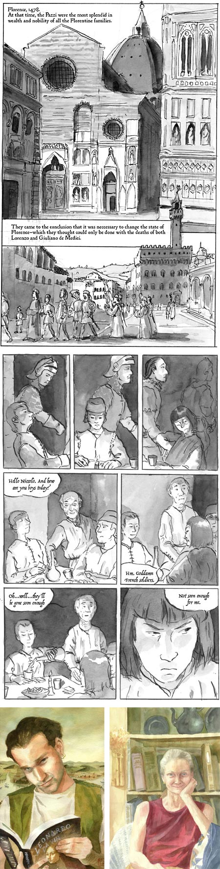Machiavelli, online graphic novel by Don MacDonald