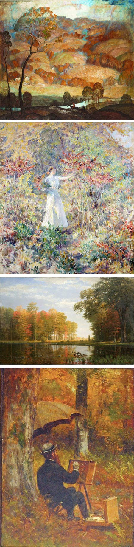 Paintbox Leaves: Autumnal Inspiration from Cole to Wyeth: N.C. Wyeth, Robert Reid, Albert Bierstadt, Thomas Worthington Whittredge