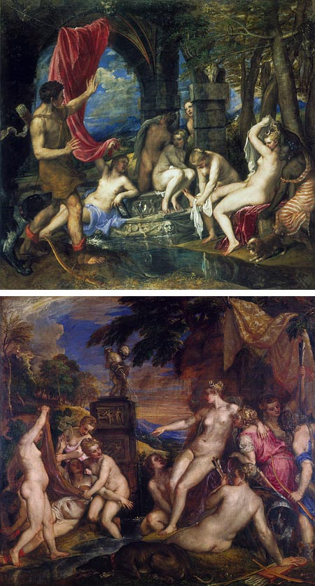 Titian and the Golden Age of Venitian Painting; Diana and Actaeon, Diana and Callisto